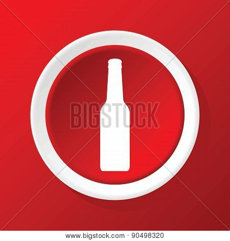 Bottle icon on red
