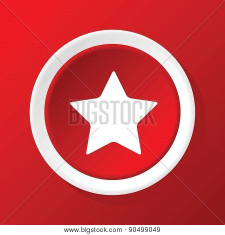 Star icon on red