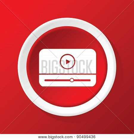Mediaplayer icon on red