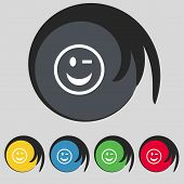 foto of eye-wink  - Winking Face icon sign - JPG