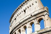 stock photo of elliptical  - The Colosseum or Coliseum also known as the Flavian Amphitheatre is an elliptical amphitheatre in the centre of the city of Rome Italy - JPG