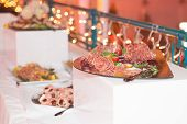 image of catering  - Catering food at a wedding party  - JPG