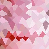 foto of cameos  - Low polygon style illustration of a cameo pink abstract geometric background - JPG