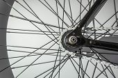 picture of bicycle gear  - part of fixed gear bicycle - JPG