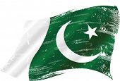stock photo of pakistani flag  - Pakistani grunge flag - JPG