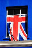 stock photo of jacking  - Union Jack national flag of the United Kingdom - JPG