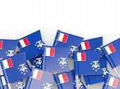 image of southern  - Flag pin of french southern territories isolated on white - JPG