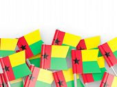 pic of guinea  - Flag pin of guinea bissau isolated on white - JPG