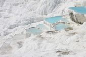 picture of natural phenomena  - The Pamukkale natural lakes in Hierapolis Turkey - JPG