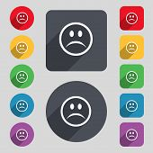 foto of sadness  - Sad face Sadness depression icon sign - JPG