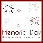 picture of memorial  - White background with text and elements for memorial day - JPG