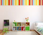 picture of 3d  - Colorful playroom interior - JPG