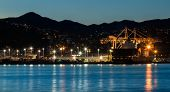 foto of container ship  - Container ship in the port of Wellington New Zealand - JPG
