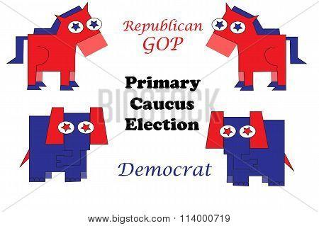 Republican And Democrat Face Off