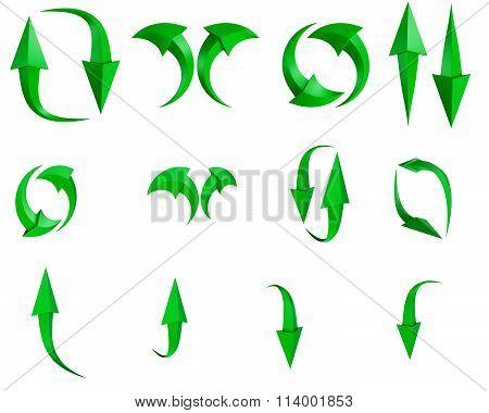 Set of arrow stickers,