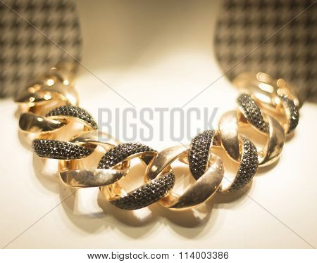 Jewelry Store Shop Window Necklace
