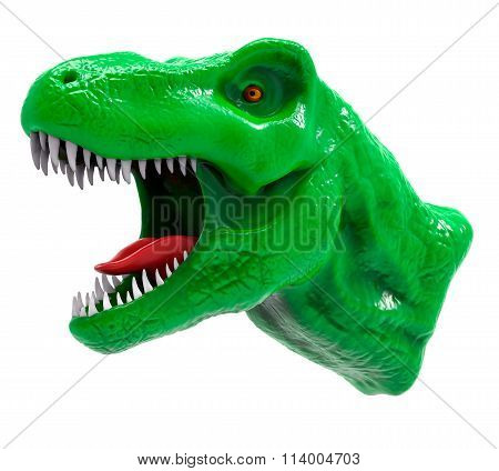 3D Isolated T-rex Head