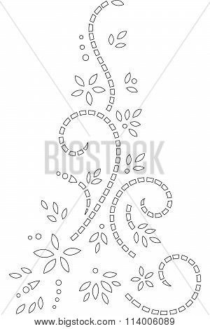 Abstract Illustration Outline Stencil Design