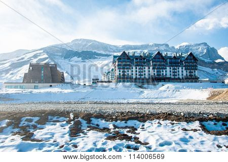 Shahdag - FEBRUARY 8, 2015: Tourist Hotels  on February 8 in Aze
