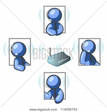 Blue Man Communication Network