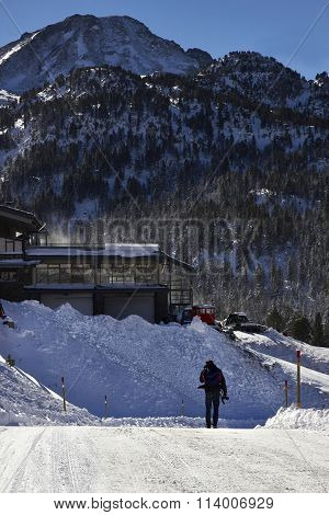 Ski Resort In A Pyrenees Mountain