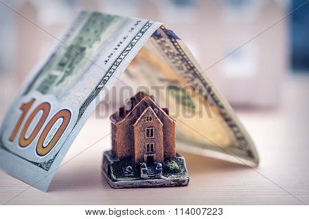 Small Toy House With Money