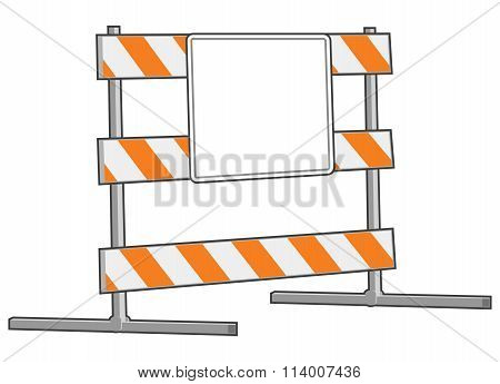 Under Construction Blank Area Sign