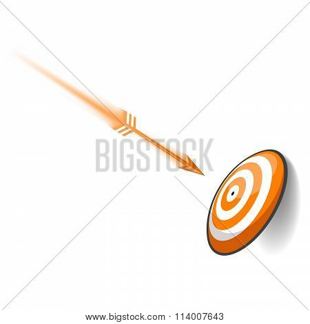 Orange Dart Board