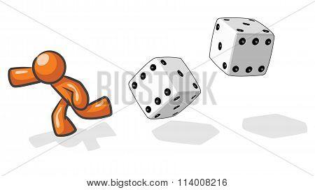 Design Mascot Victim Of Chance.