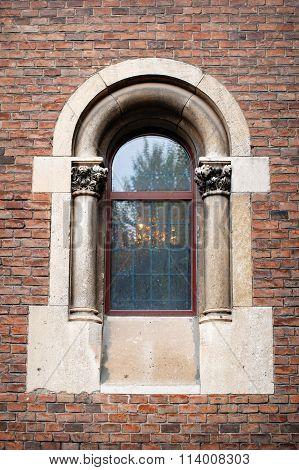 Sculpture Of The Ancient Castle Window