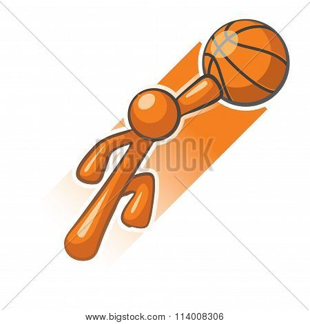 Orange Man Basket Ball Hero Slam Dunk