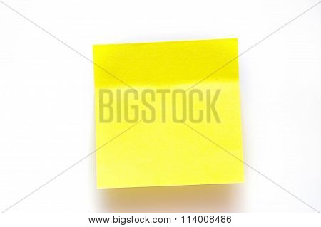 Yellow Stickers On A White Background