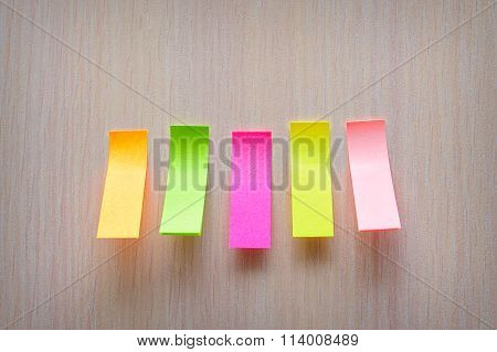 Colorful Stickers Glued To The Stand
