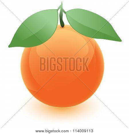 Orange Orb With Leaves