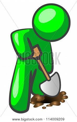 Green Man Digging