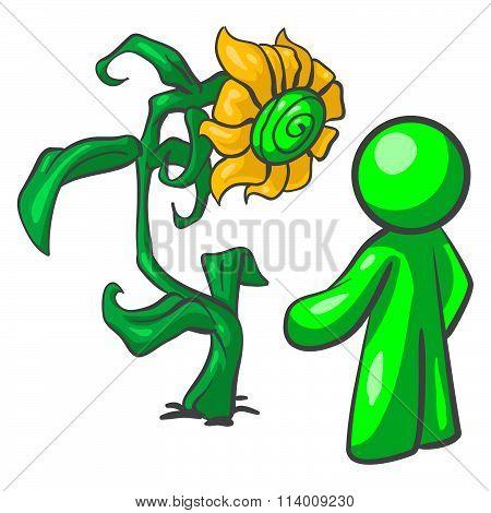 Green man large flower