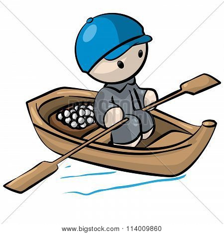 Little Man In Rowboat