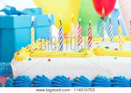 Birthday Cake Closeup