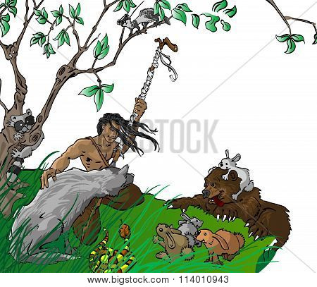 Native With Animals