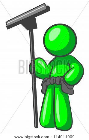 Green Man With Squeegee