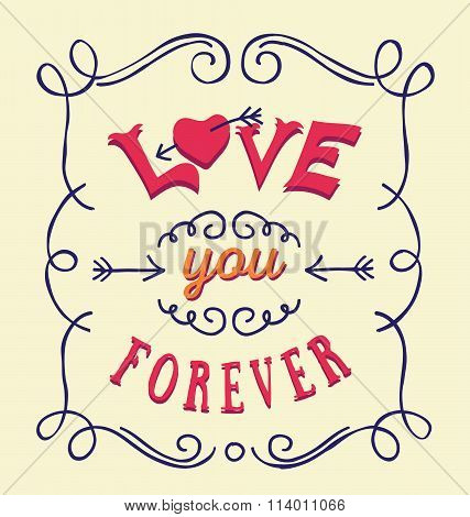 Love You Forever Typography