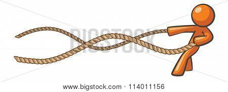 Orange Man Learning The Ropes
