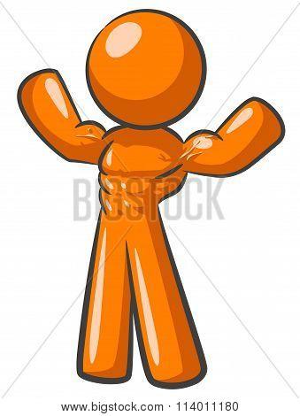 Orange Man Body Builder
