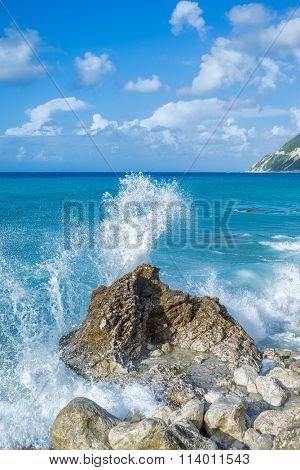 Agios Nikitas beach in Lefkada Greece
