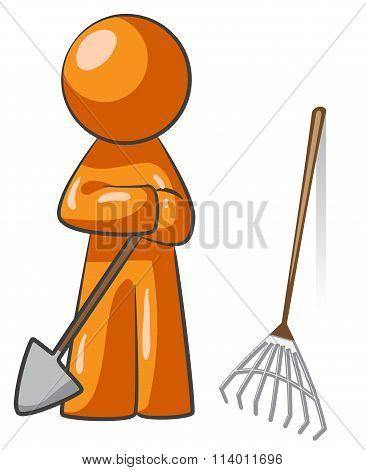 Orange Person Lawn Care