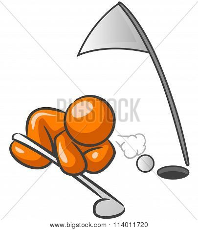 Orange Man Golf Cheater
