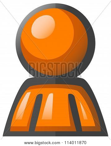 Orange Man Avatar Icon