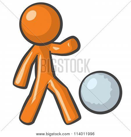 Orange Person Kick Ball