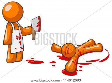 Orange Person Killer Butcher