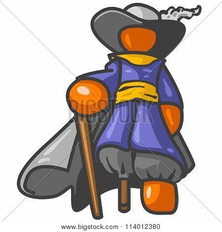Orange Man Pirate